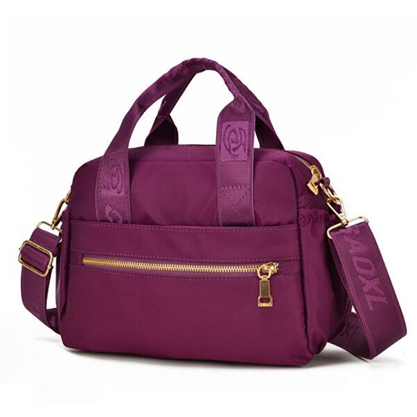 Women Waterproof Crossbody Bag Multi-carry Solid Handbag