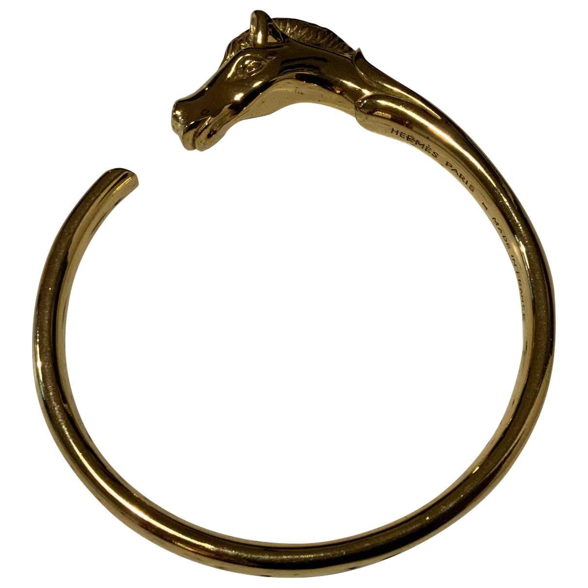 Hermes - Bracelet Galop pour femme en argent - dore