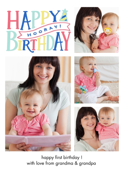 Birthday Greeting Cards Mail-for-Me Premium 5x7 Folded Card , Card & Stationery -Birthday Horray