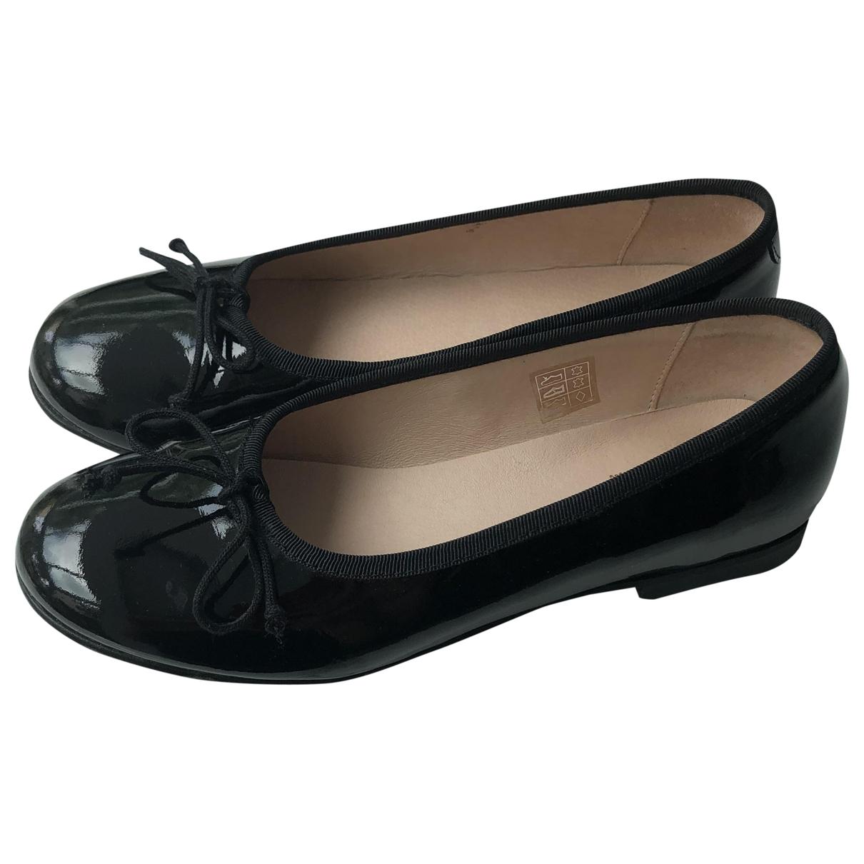 - Ballerines   pour enfant en cuir verni - noir
