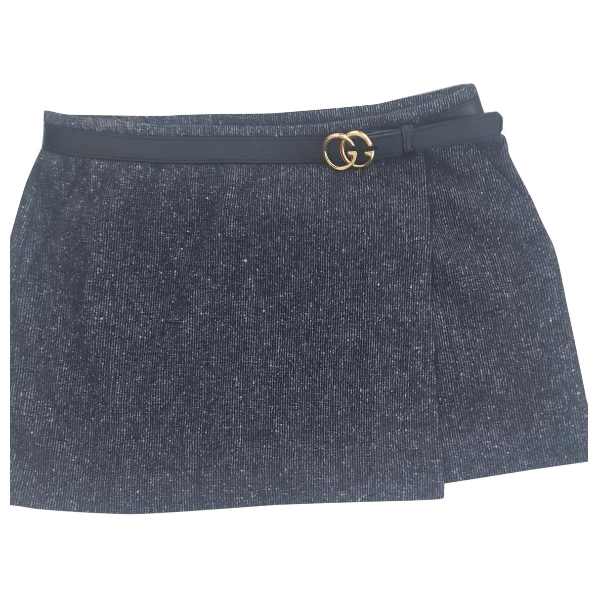Gucci \N Black Wool skirt for Women 44 IT