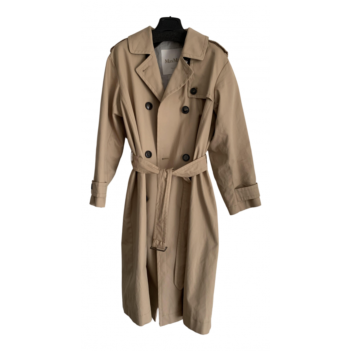 Max Mara - Manteau   pour femme en coton - beige