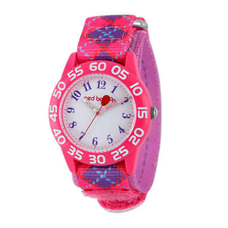 Red Balloon Girls Pink and Purple Plaid Strap Watch, One Size , No Color Family