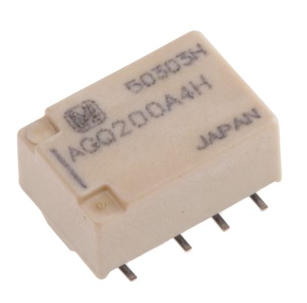 Panasonic , 4.5V dc Coil Non-Latching Relay DPDT, 1A Switching Current PCB Mount