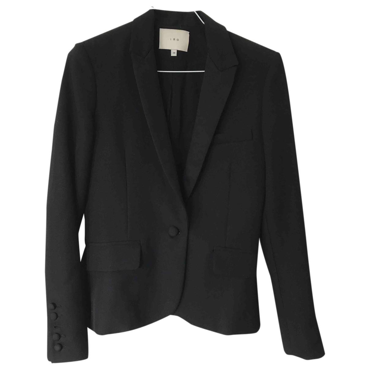 Iro \N Black Wool jacket for Women 36 FR