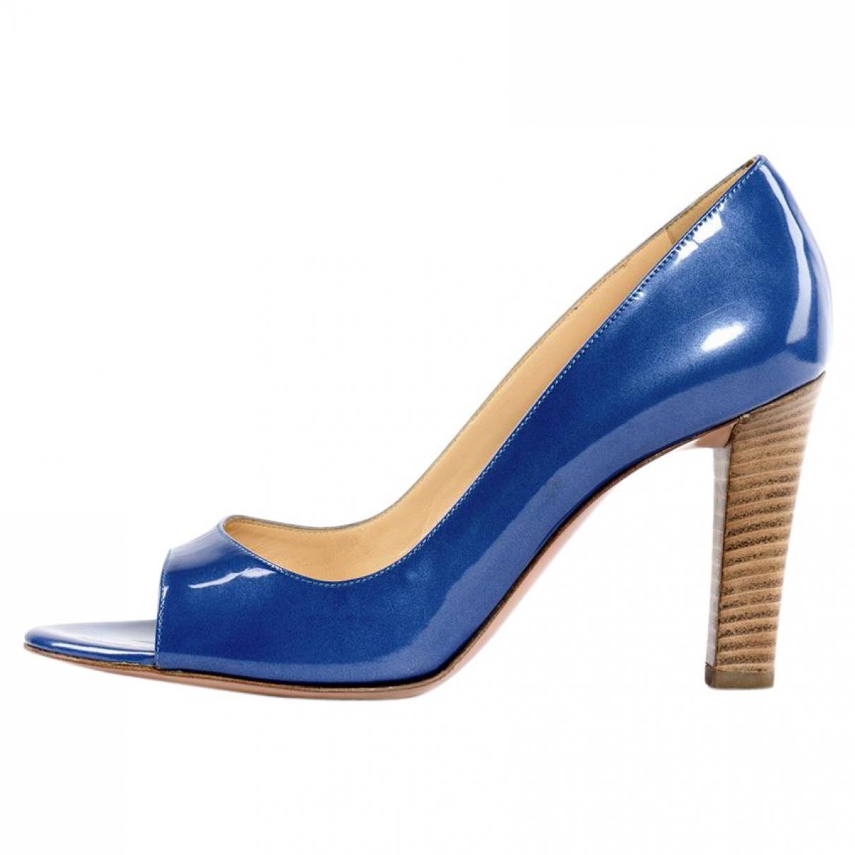 Sergio Rossi \N Sandalen in  Blau Lackleder
