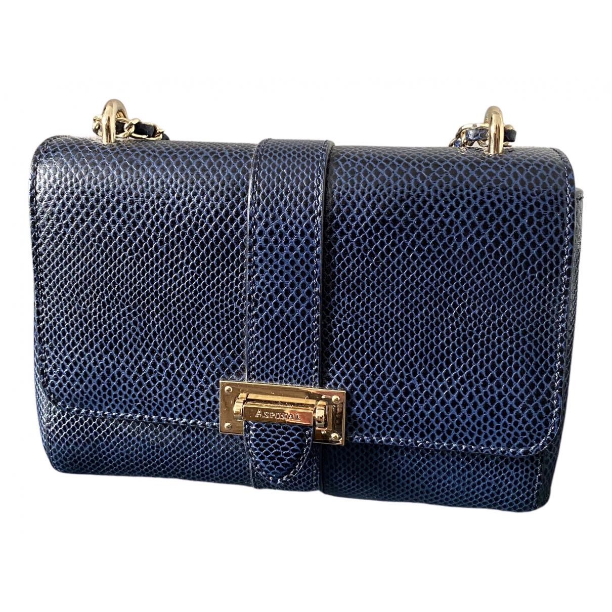 Aspinal Of London - Sac a main   pour femme en cuir - bleu