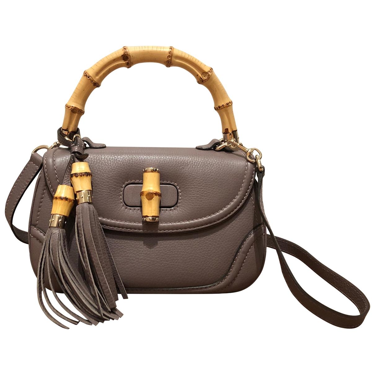 Gucci Bamboo Handtasche in Leder