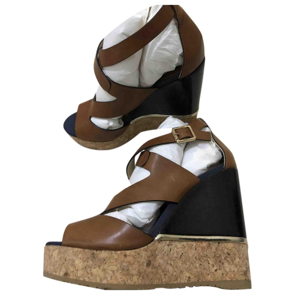 Jimmy Choo - Sandales   pour femme en cuir - camel