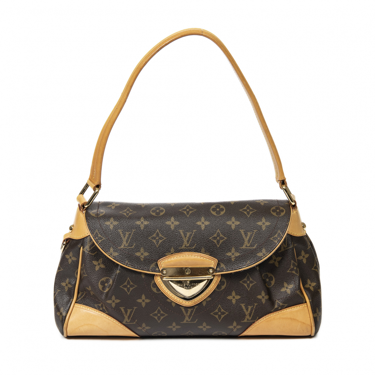 Louis Vuitton Beverly Handtasche in  Braun Baumwolle