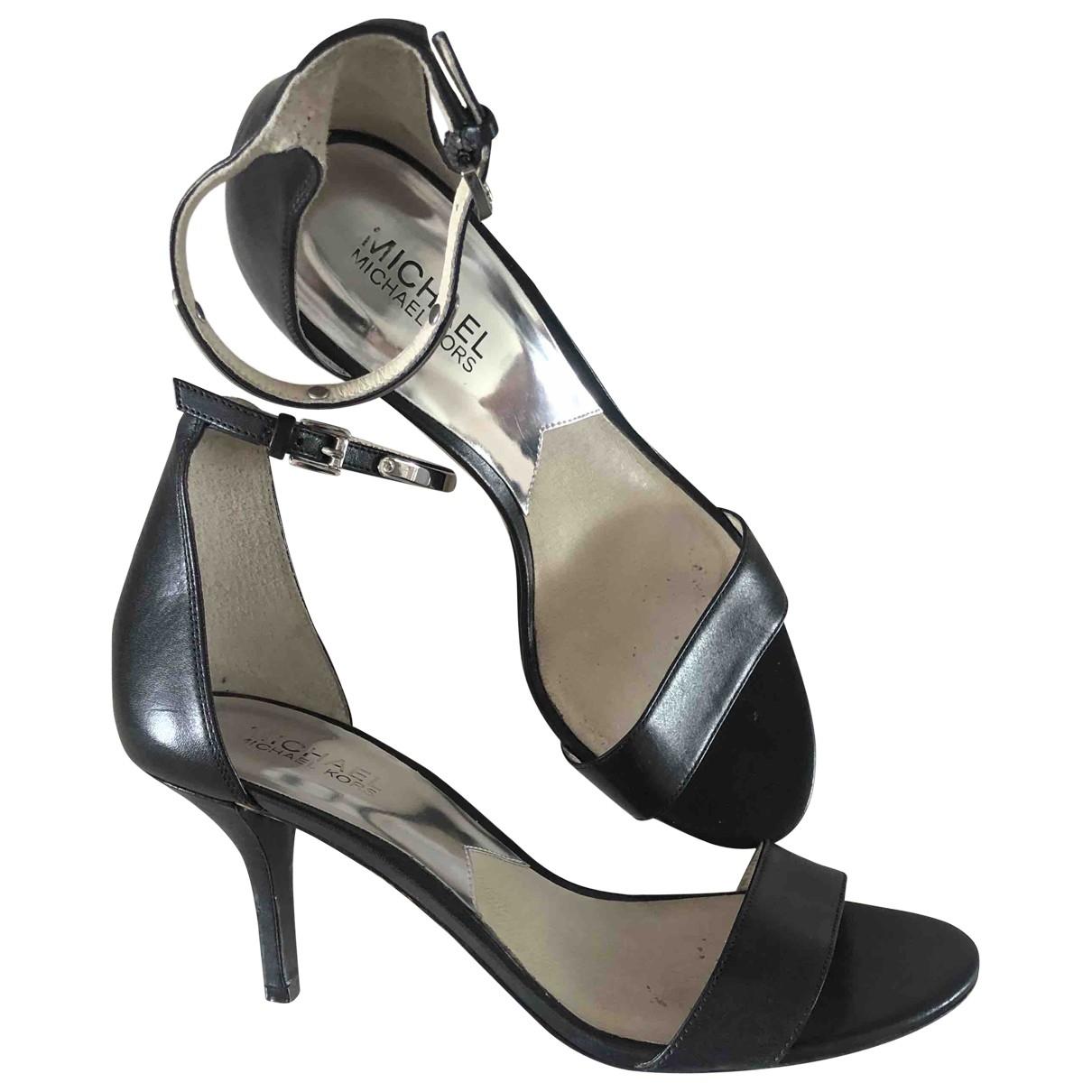 Michael Kors \N Black Leather Heels for Women 8.5 US