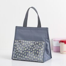 Daisy Print Insulated Lunch Bag