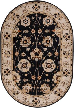 Caesar CAE-1033 6' x 9' Oval Traditional Rug in