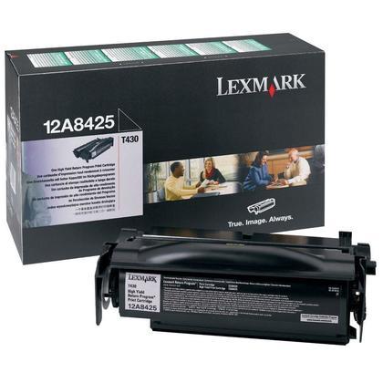Lexmark 12A8425 Original Black Return Program Toner Cartridge High Yield