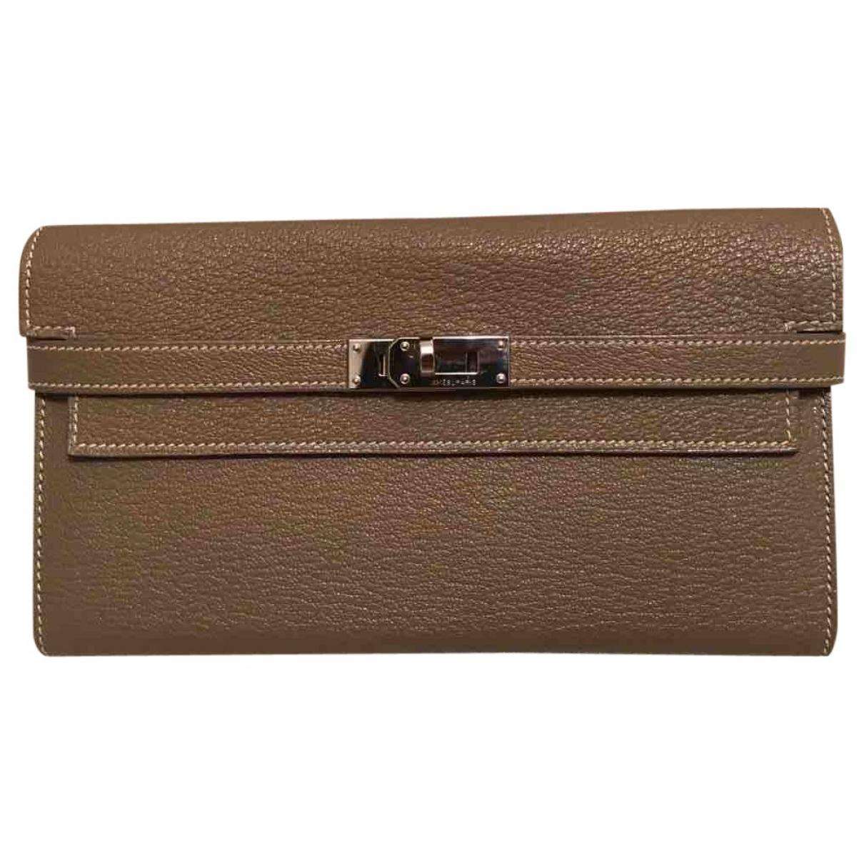Hermès Kelly Brown Leather wallet for Women \N