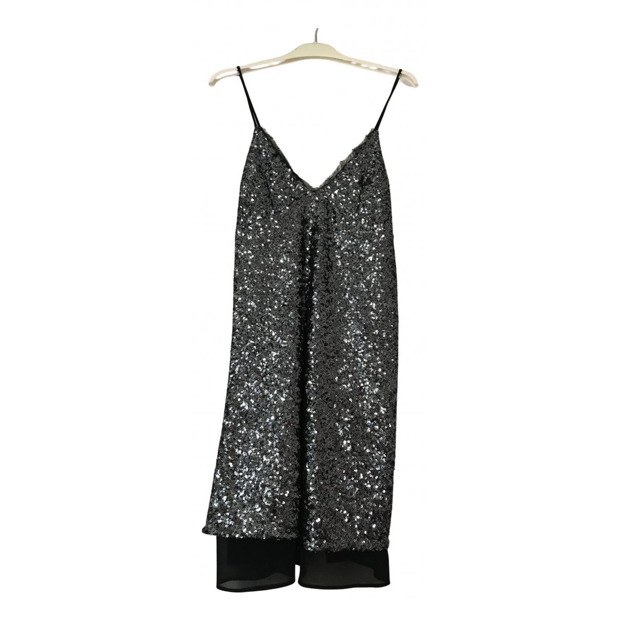 Zara \N Kleid in  Grau Mit Pailletten
