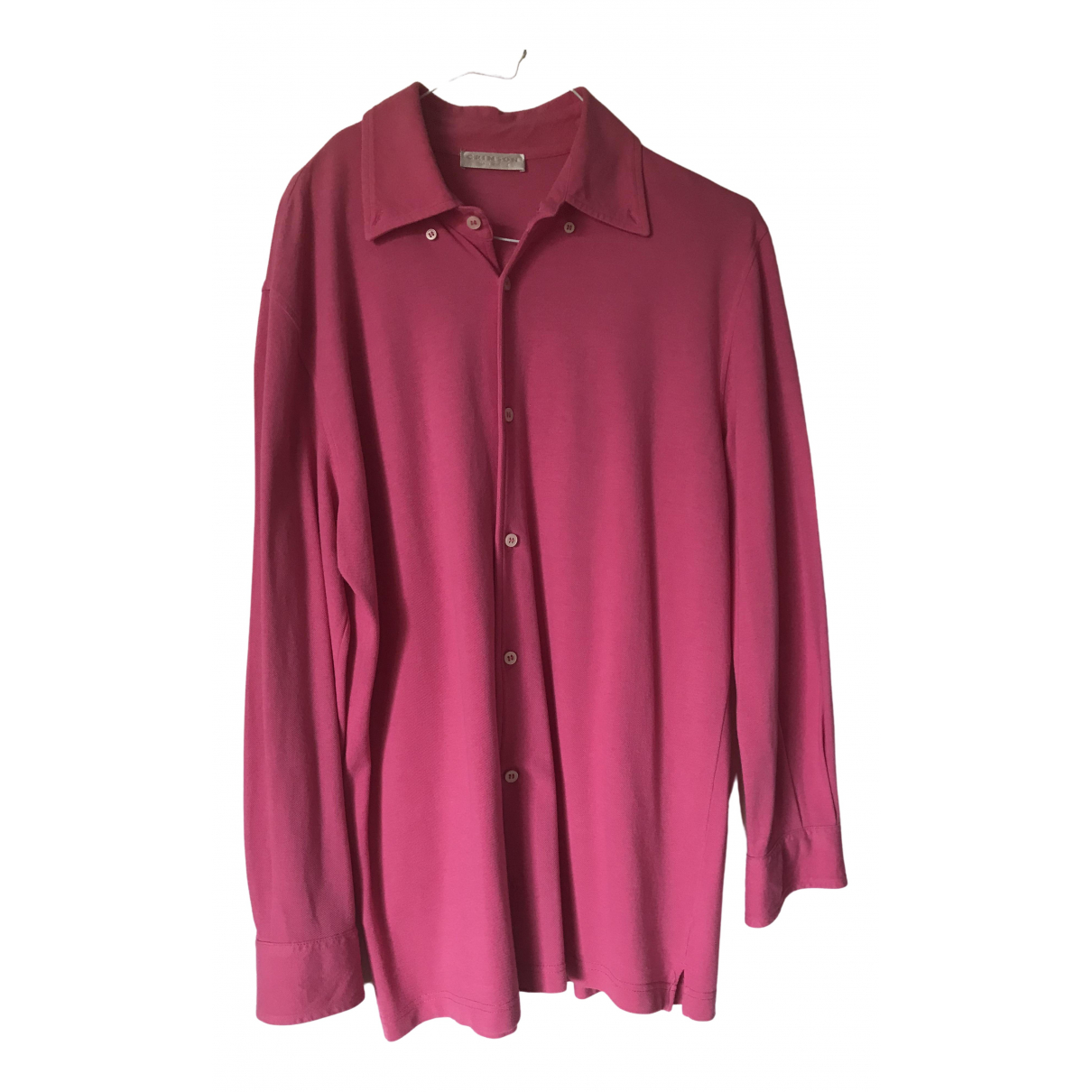 Crimson \N Poloshirts in  Rosa Baumwolle