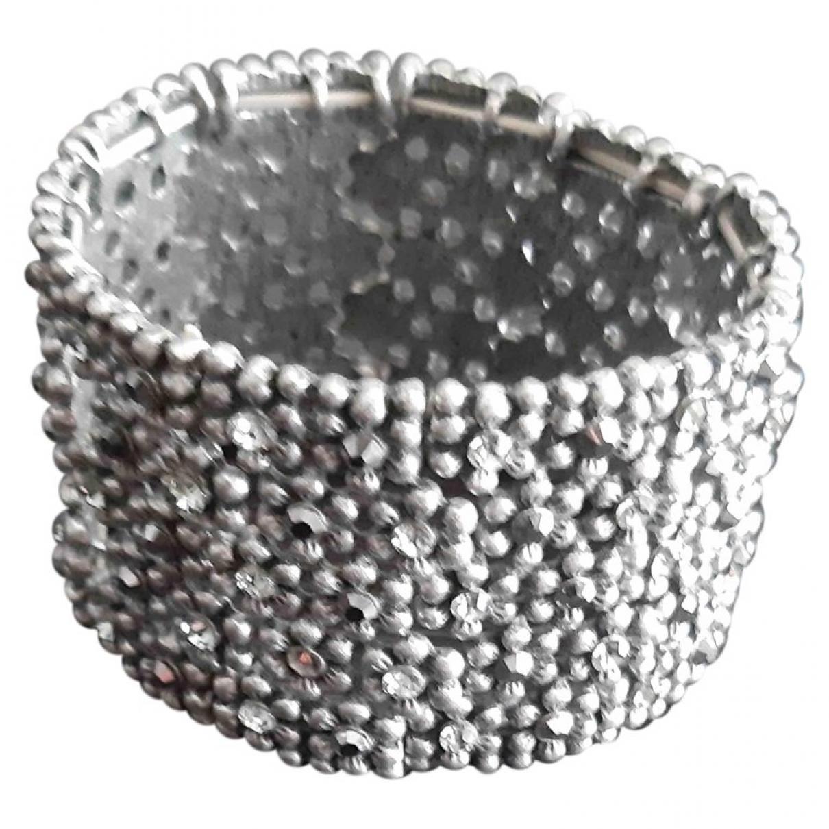 - Bracelet Manchette pour femme en metal - argente