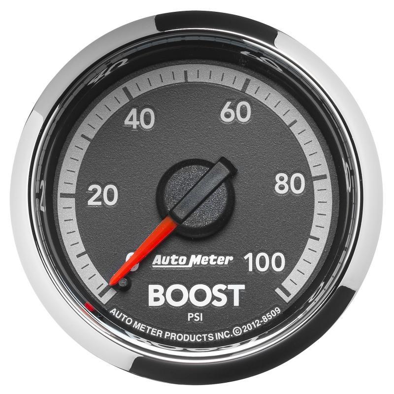 AutoMeter GAUGE; BOOST; 2 1/16in.; 100PSI; MECHANICAL; RAM GEN 4 FACTORY MATCH Ram