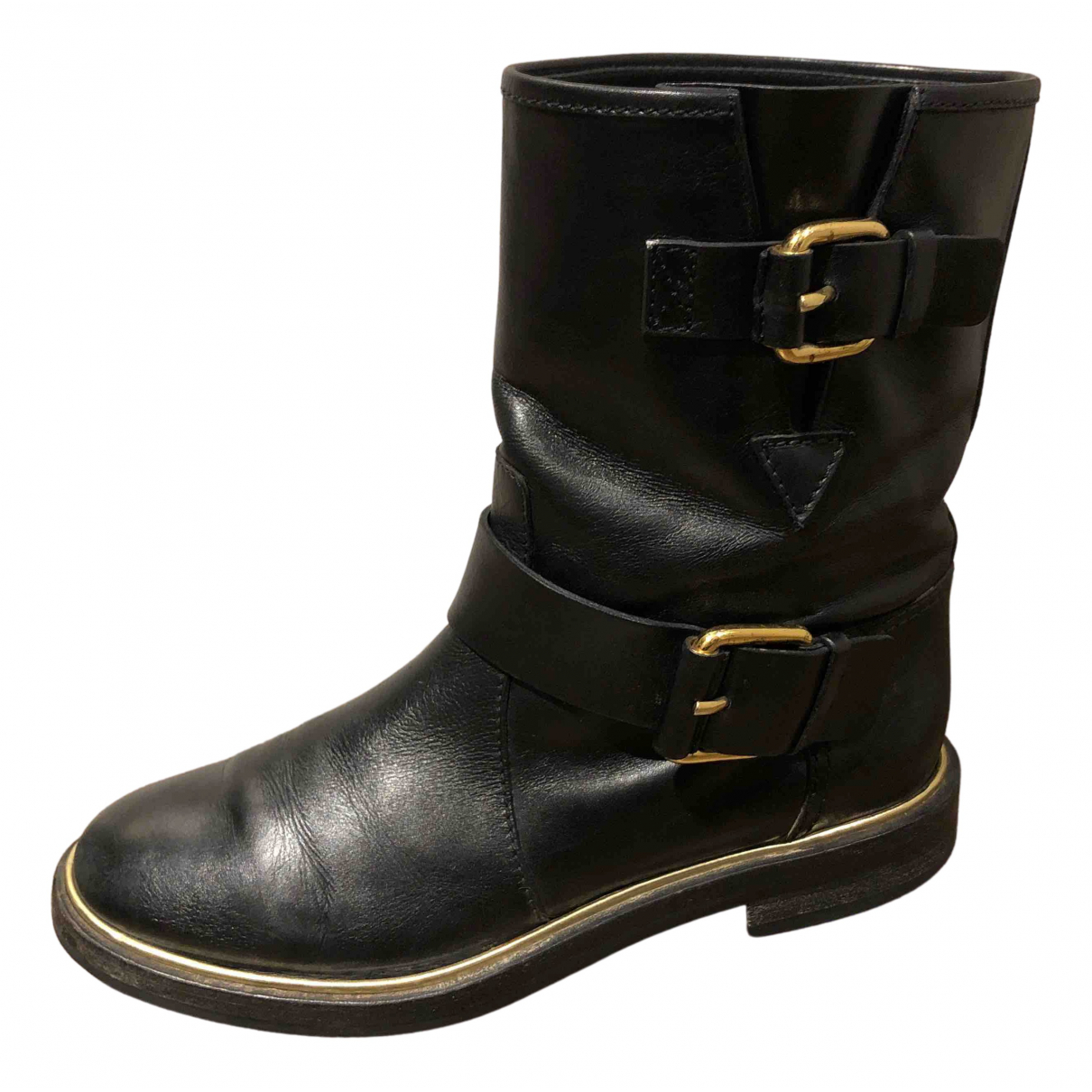 Casadei N Black Leather Boots for Women 6 US