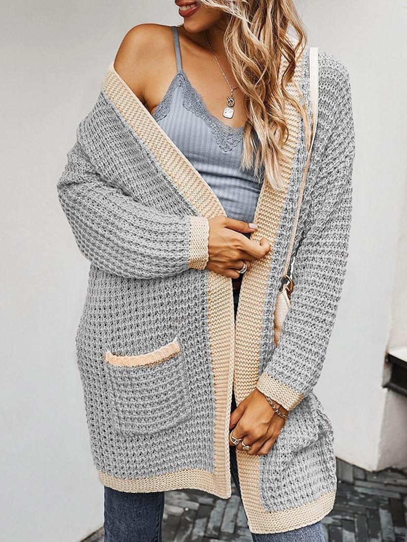 Ericdress Regular Pocket Thin Fall Mid-Length Sweater
