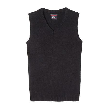 French Toast Toddler Boys Vest, 4t , Black
