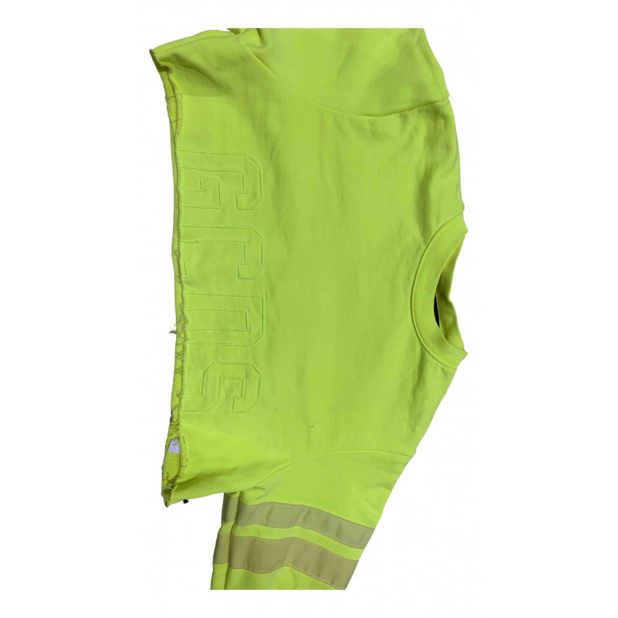 Gcds - Pull   pour femme en coton - jaune