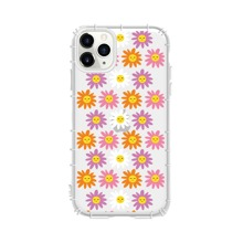Sunflower Print Clear iPhone Case