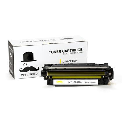 Compatible HP 507A CE402A cartouche de toner jaune - Moustache®
