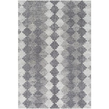 Montclair MTC-2302 2' x 3' Rectangle Modern Rug in Charcoal  Light Gray