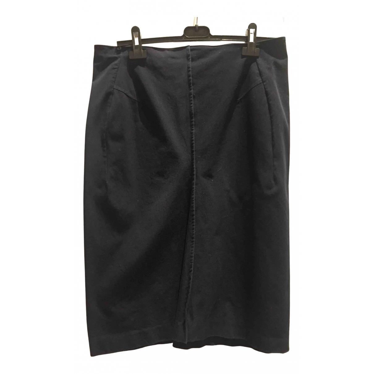 Jil Sander - Jupe   pour femme en coton - bleu