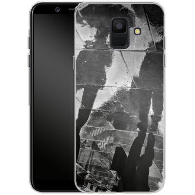 Samsung Galaxy A6 Silikon Handyhuelle - It Must Be Monday Morning von Ronya Galka