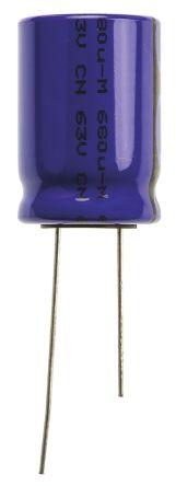 Vishay 680μF Electrolytic Capacitor 63V dc, Through Hole - MAL214658681E3