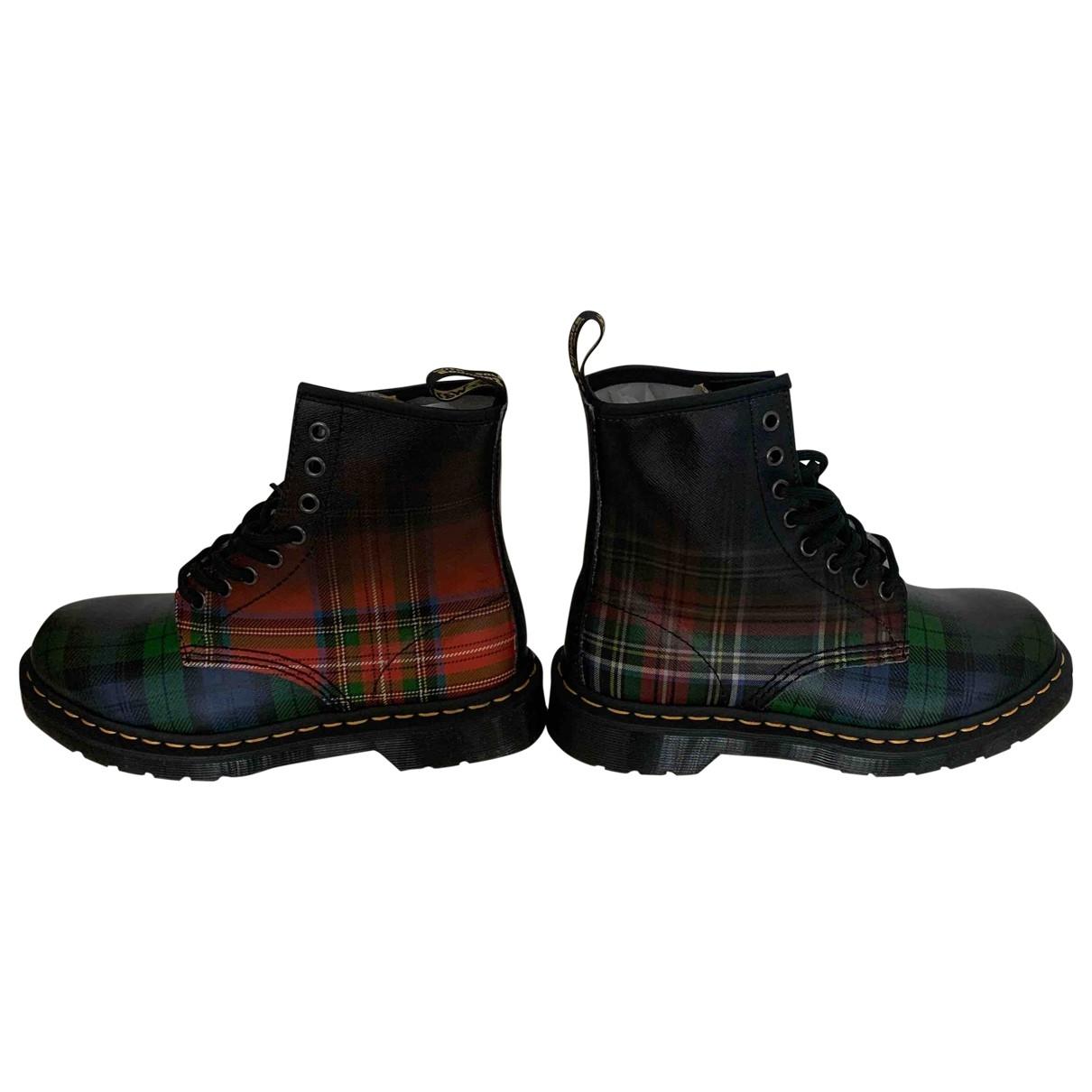 Dr. Martens - Boots   pour femme en cuir - multicolore