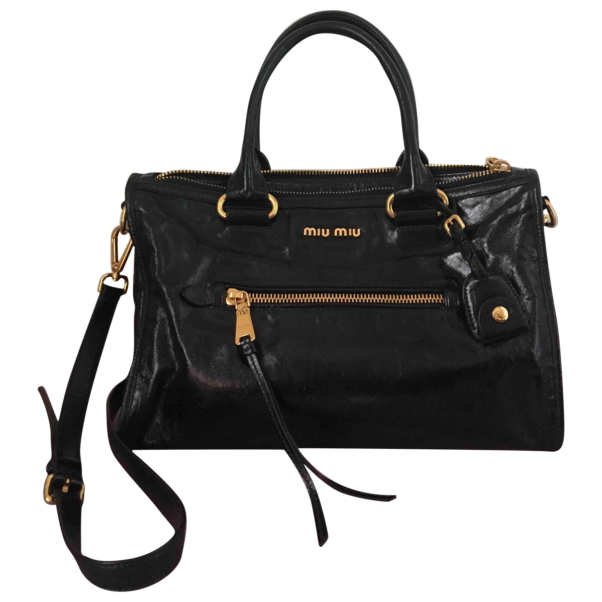 Miu Miu \N Black Leather handbag for Women \N