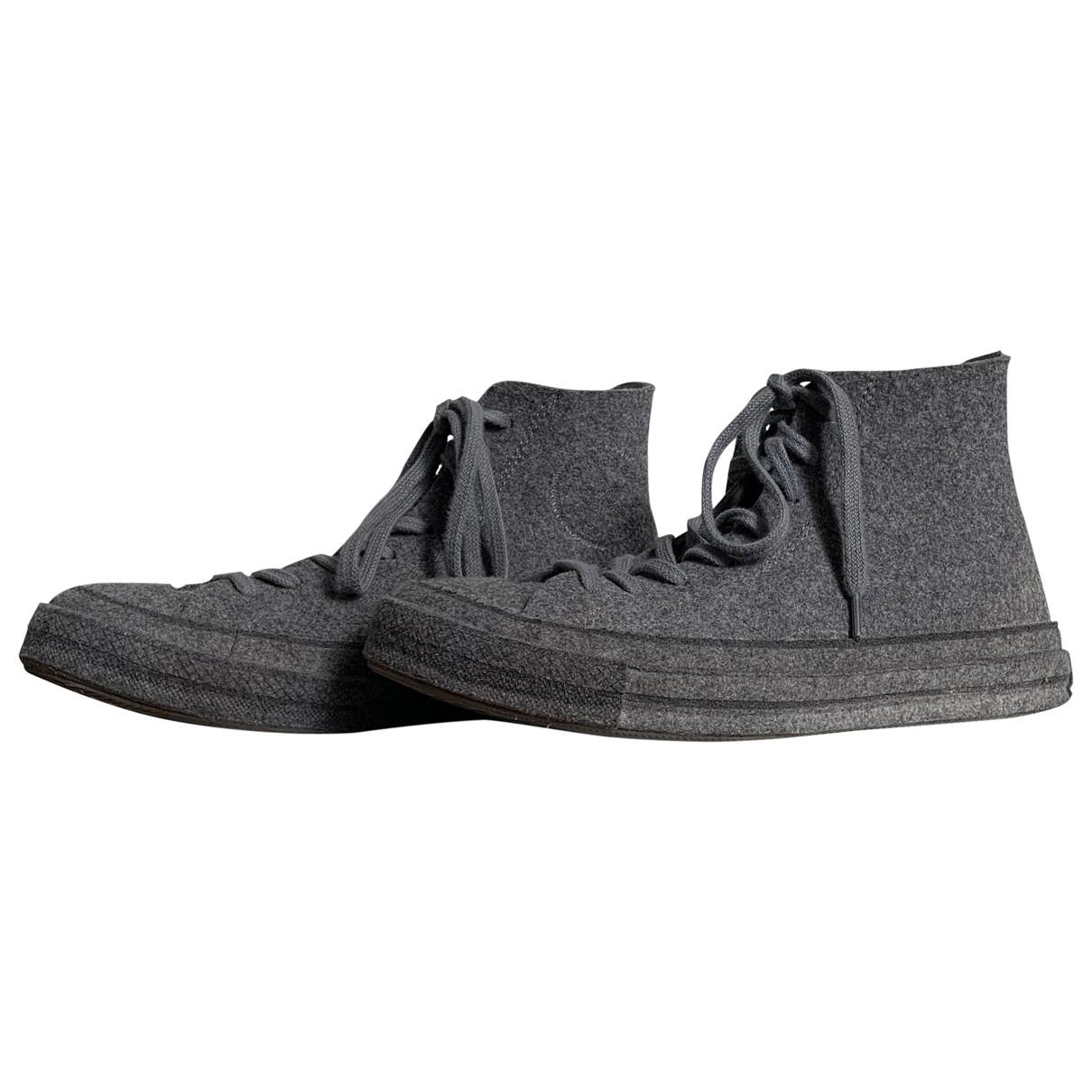 Converse X J.w Anderson - Baskets   pour femme en toile - gris