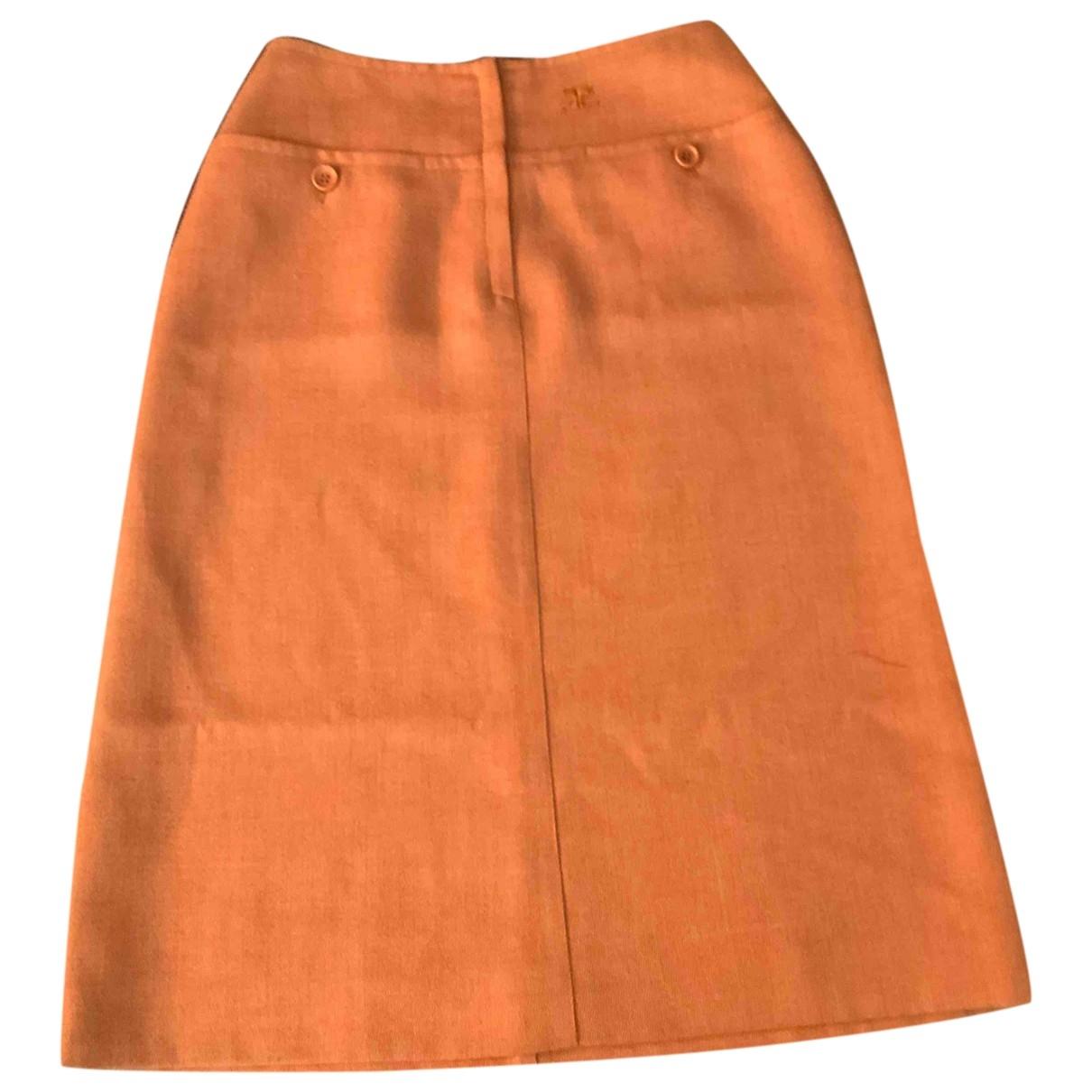 Courrèges \N Orange skirt for Women 00 0-5
