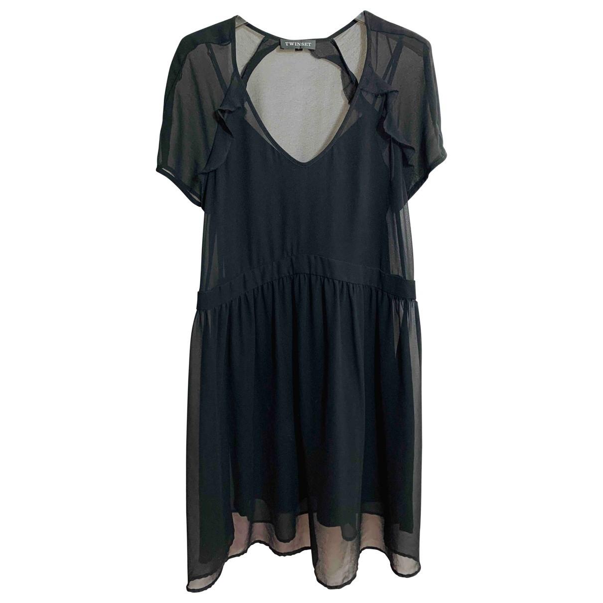 Twin Set \N Kleid in  Schwarz Synthetik