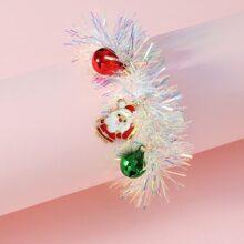 Maedchen Armband mit Weihnachtsmann Dekor