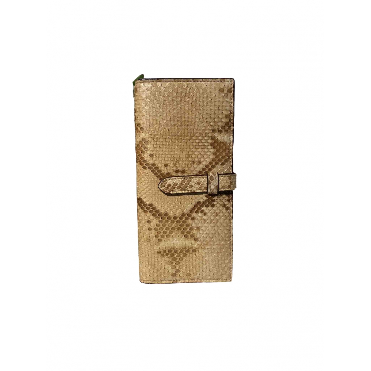 J & M Davidson - Portefeuille   pour femme en python - beige