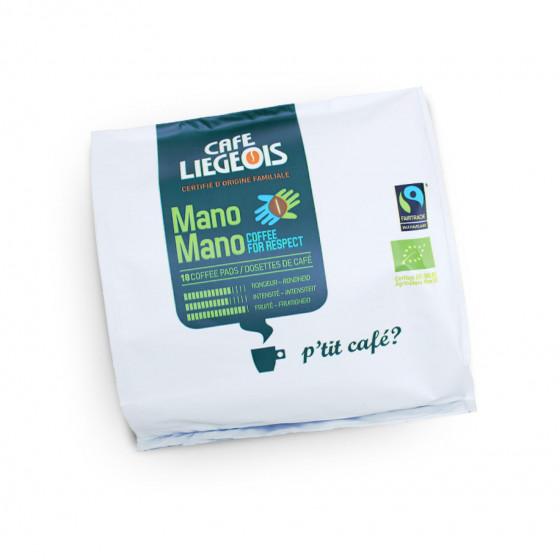 """Kaffeepads Cafe Liegeois """"Mano Mano"""", 18 Stk."""