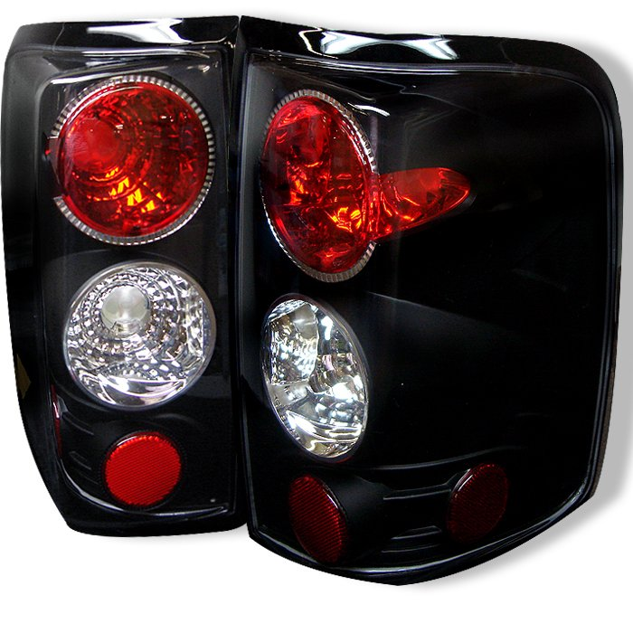 Spyder Altezza Black Tail Lights Ford F150 Styleside 04-08