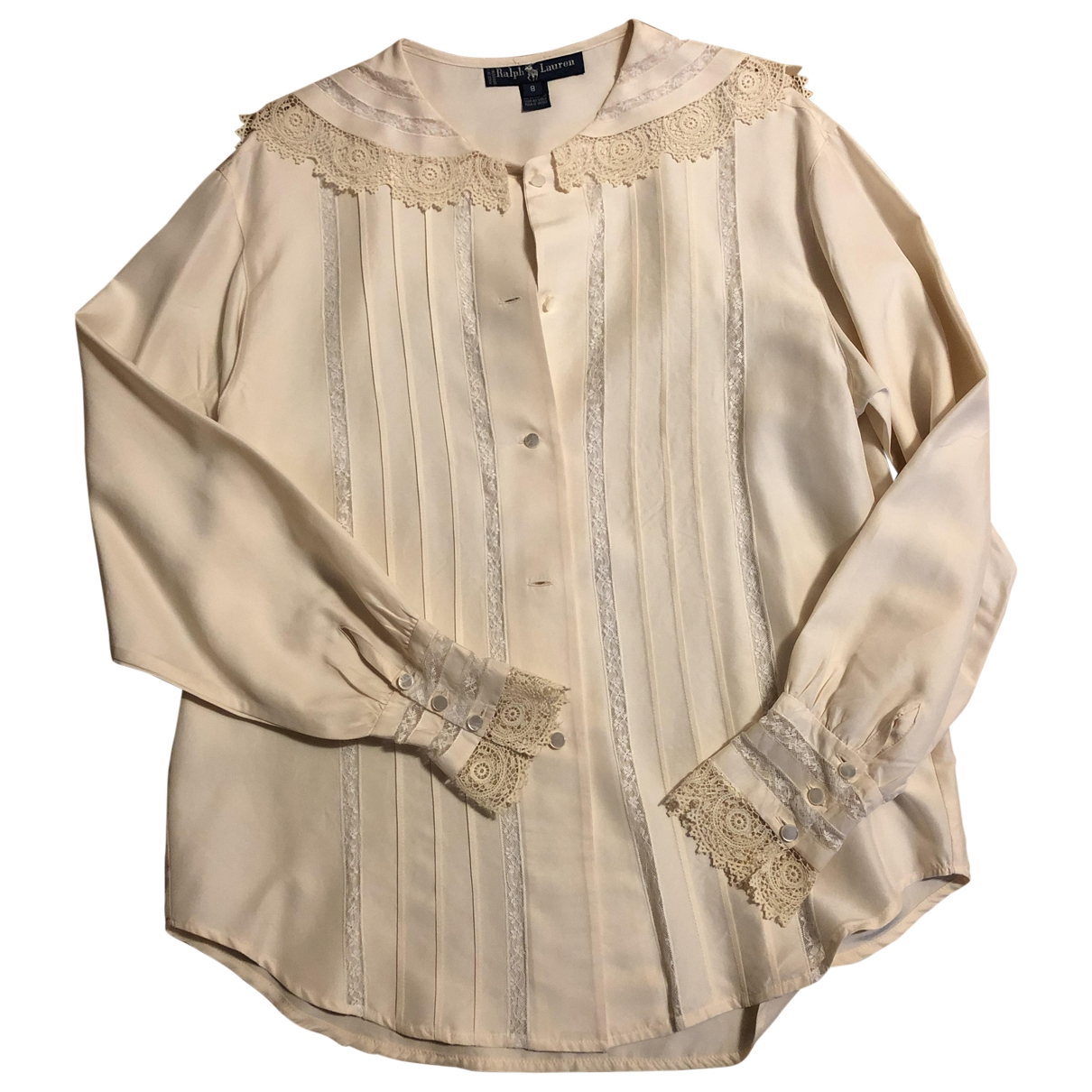 Ralph Lauren - Top   pour femme en soie - beige