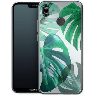 Huawei P20 Lite Silikon Handyhuelle - Monstera 1 von Mareike Bohmer