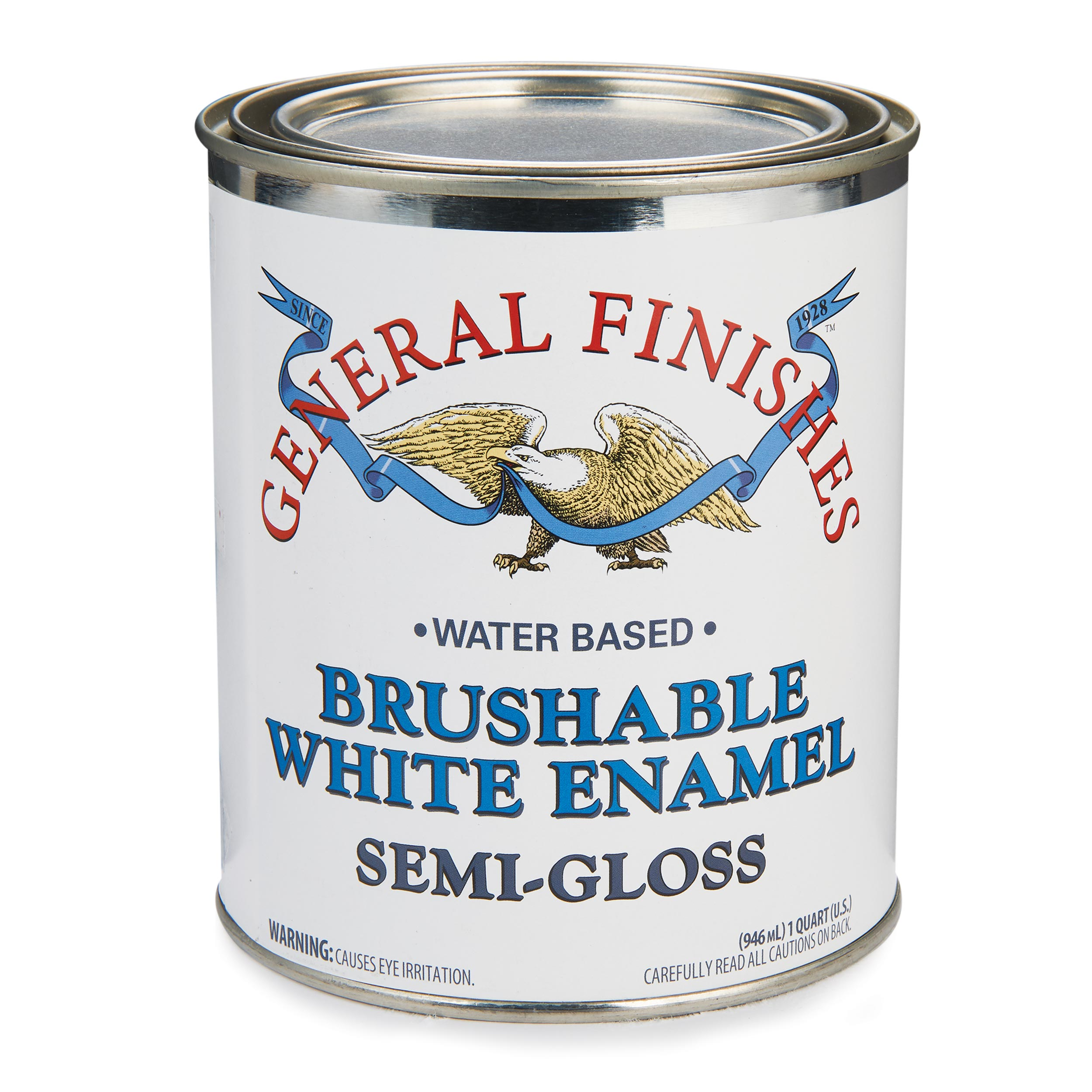 White Semi-Gloss Enamel Water Based Quart