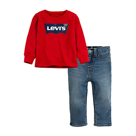 Levi's Baby Boys 2-pc. Pant Set, 3 Months , Red