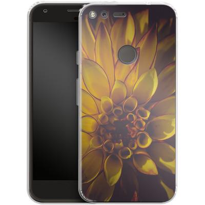 Google Pixel Silikon Handyhuelle - Yellow Dahlia von Joy StClaire