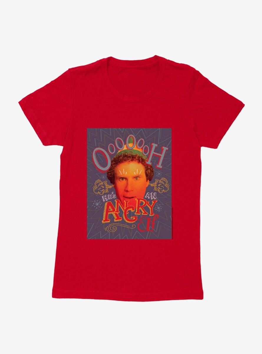Elf Angry Elf Womens T-Shirt