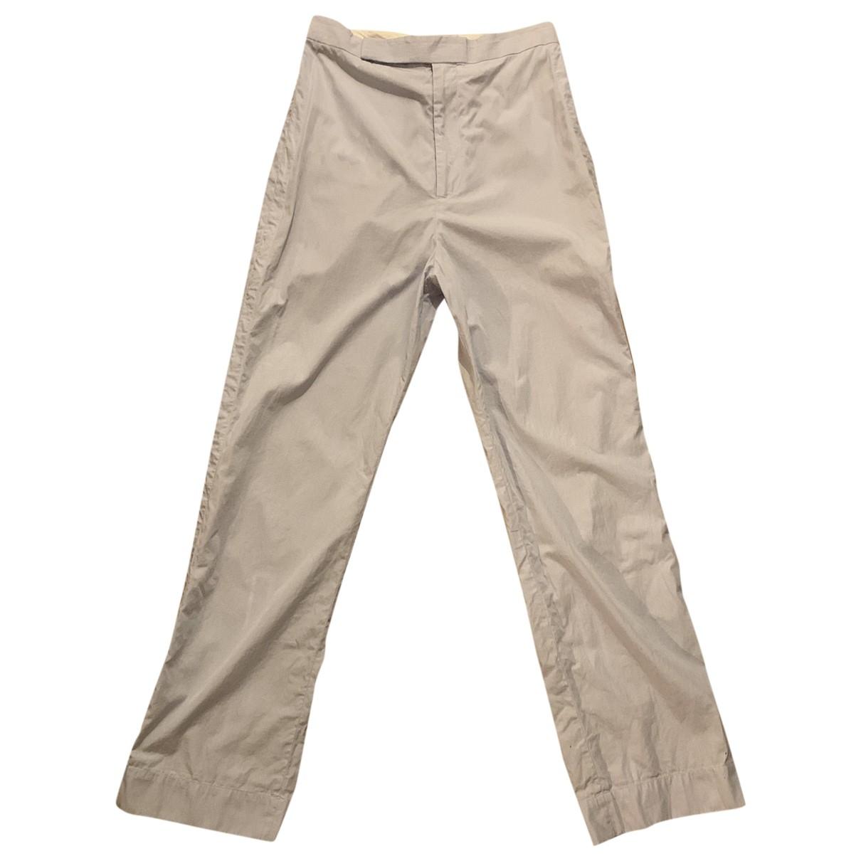 Celine \N Navy Cotton Trousers for Women 36 FR