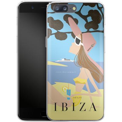 OnePlus 5 Silikon Handyhuelle - IBIZA TRAVEL POSTER von IRMA